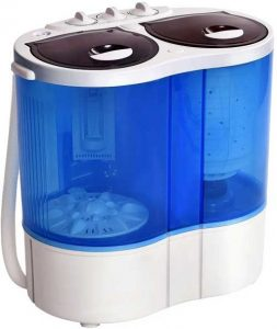 Giantex 16lbs Portable Mini Washing Machine Gravity Drain Compact Twin Tub Washer Spinne